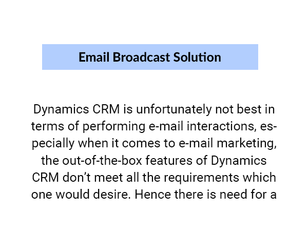 Email Broadcast Solution