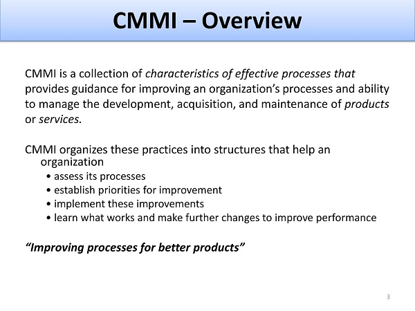 CMMi Strategy and Roadmap